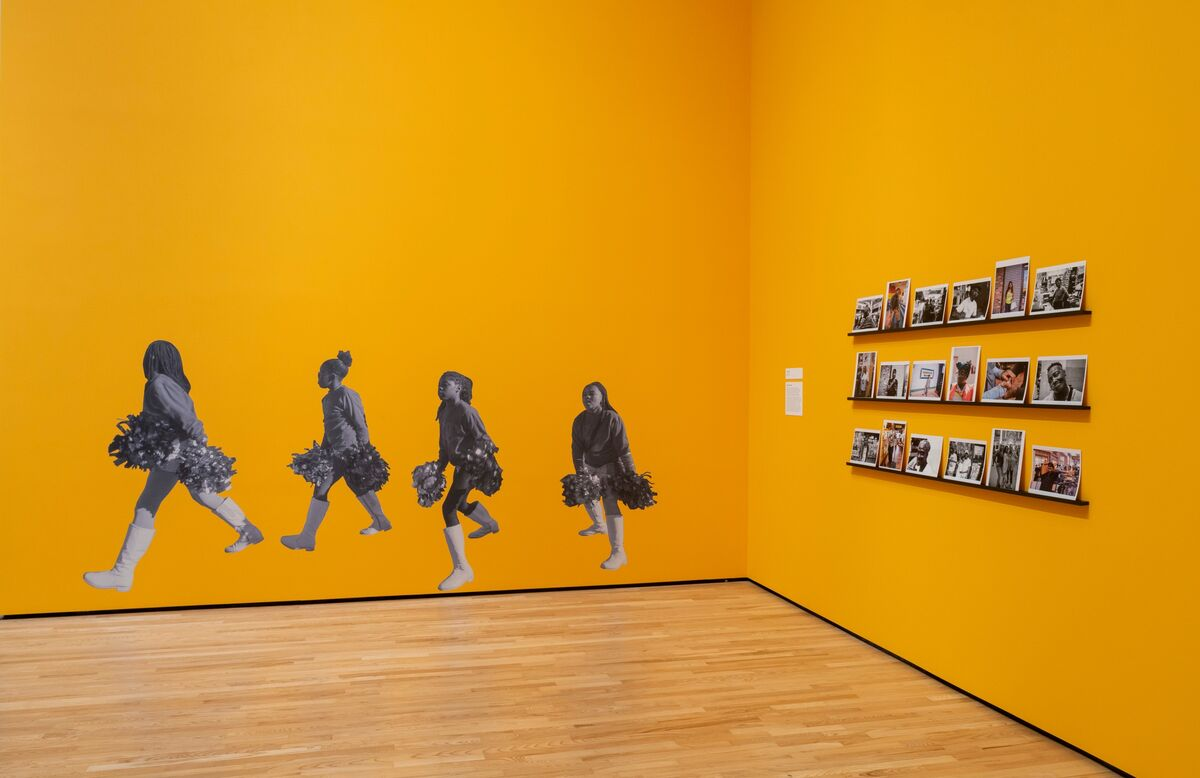 """Installation view of """"SHAN Wallace: 410"""" at The Baltimore Museum of Art, 2020. Photo by Mitro Hood. Courtesy of The Baltimore Museum of Art."""