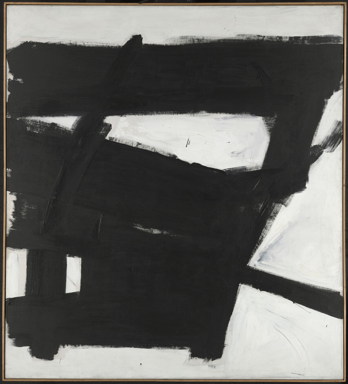 Franz Kline, Wanamaker Block, 1955. Yale University Art Gallery, Gift of Richard Brown Baker, B.A. 1935. © 2018 The Franz Kline Estate / Artists Rights Society (ARS), New York. Courtesy Hauser & Wirth Institute