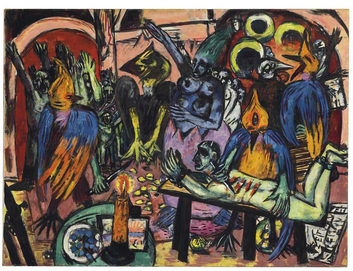 Max Beckmann, Hölle der Vögel, 1937-38. Courtesy of Christie's.