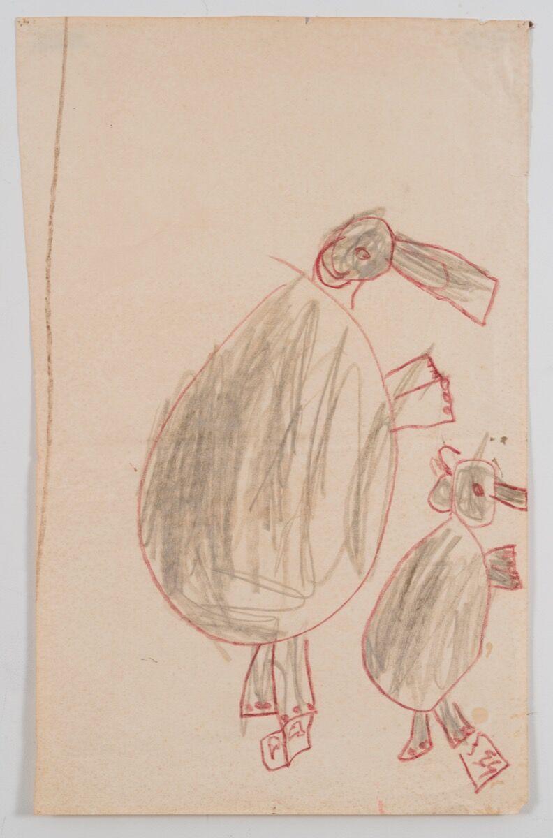 Work by Katherine Bradford, Age 8, 1950. Courtesy of ProjectArt.
