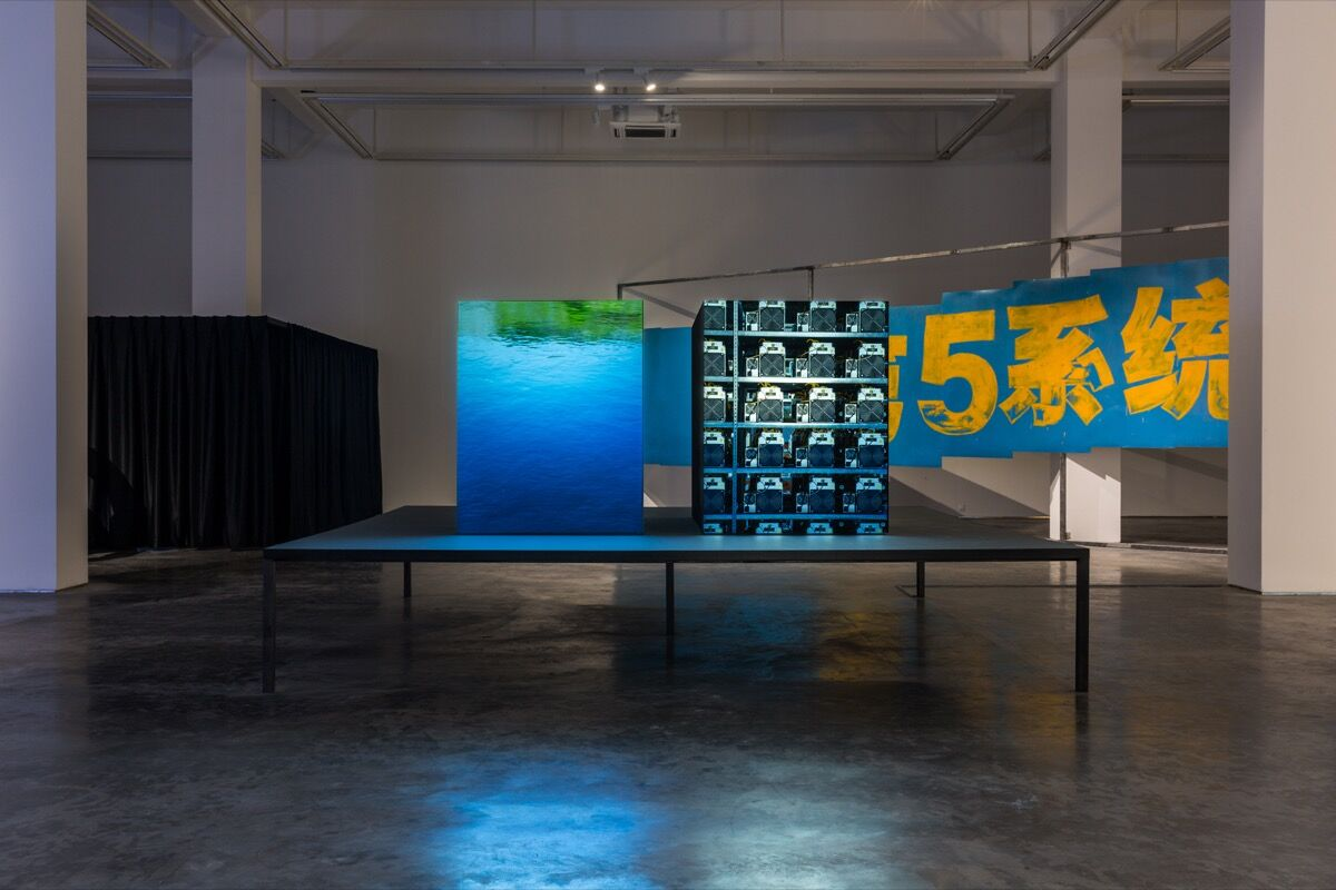 Installation view of John Gerrard, (Sichuan) 2018 (2018) at Long March Space, Beijing, 2018. Courtesy of the artist and Long March Project.