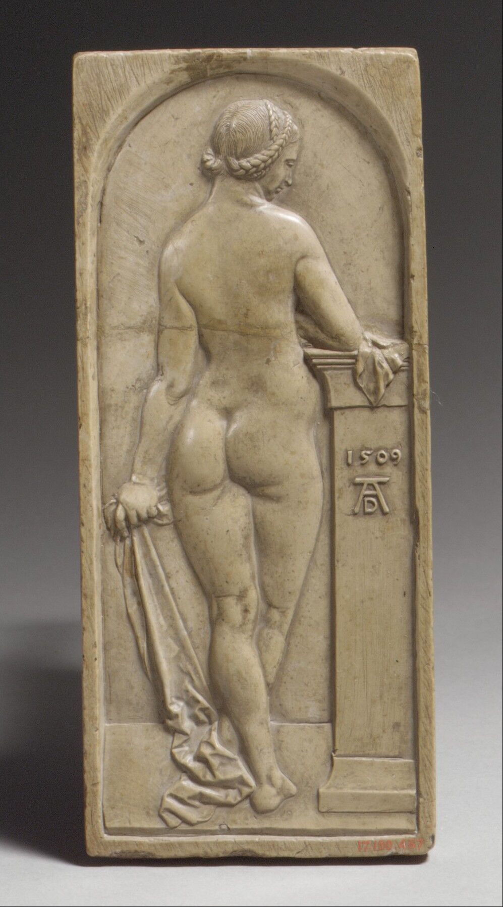After a composition by Albrecht Dürer, Female Nude Seen from Behind, early 17th century. Gift of J. Pierpont Morgan, 1917. Courtesy of the Metropolitan Museum of Art.