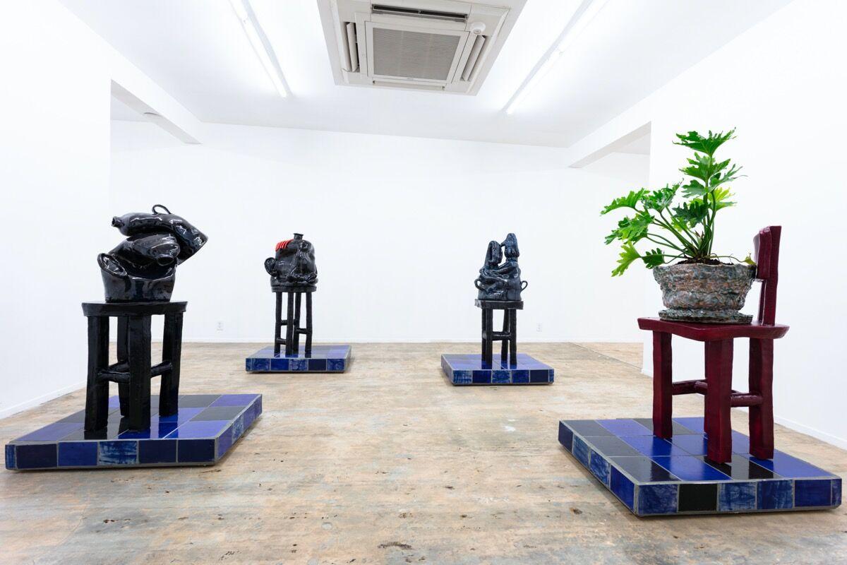 "Woody De Othello, installation view of ""Coming to Light"" at Nina Johnson, 2020. Courtesy of Nina Johnson."