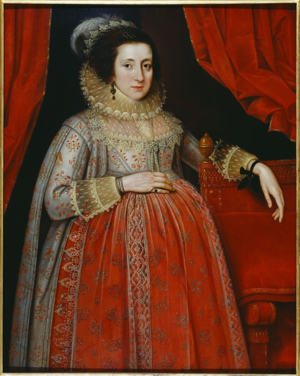 Marcus Gheeraerts II, Portrait of a Woman in Red, 1620. © Tate.