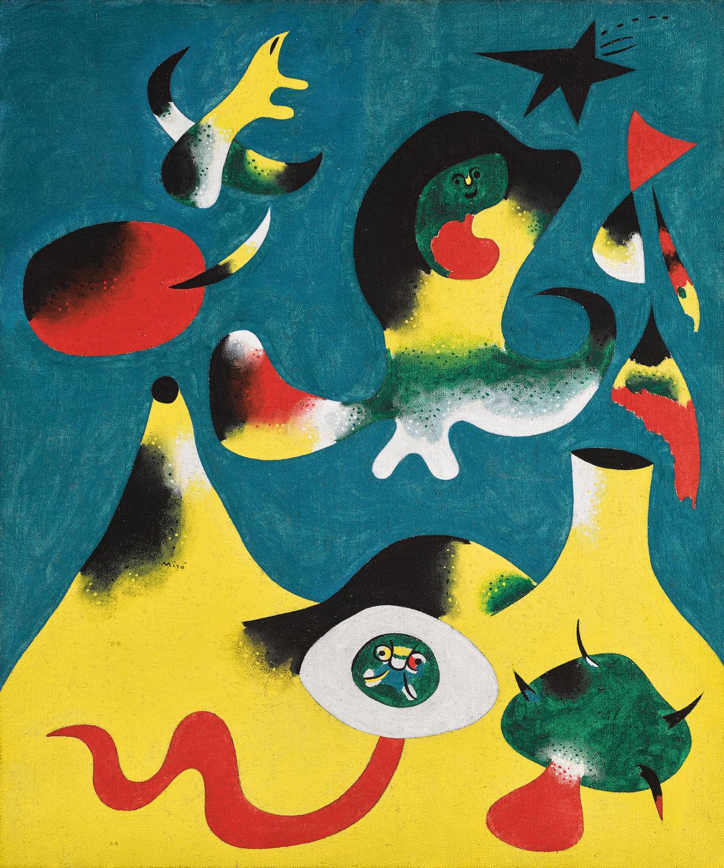 Joan Miró, Peinture (L'Air), 1938, oil on canvas. Est. £10 million–15 million. Courtesy Sotheby's.