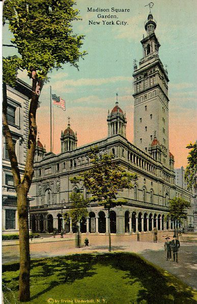 Postcard of Madison Square Garden II. Image via Wikimedia Commons.