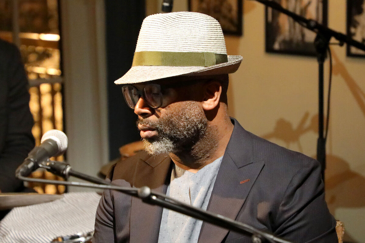 Theaster Gates and The Black Monks of Mississippi perform at Prada Mode Miami on December 6, 2018. Photo by Alexander Tamargo/Getty Images for Prada,