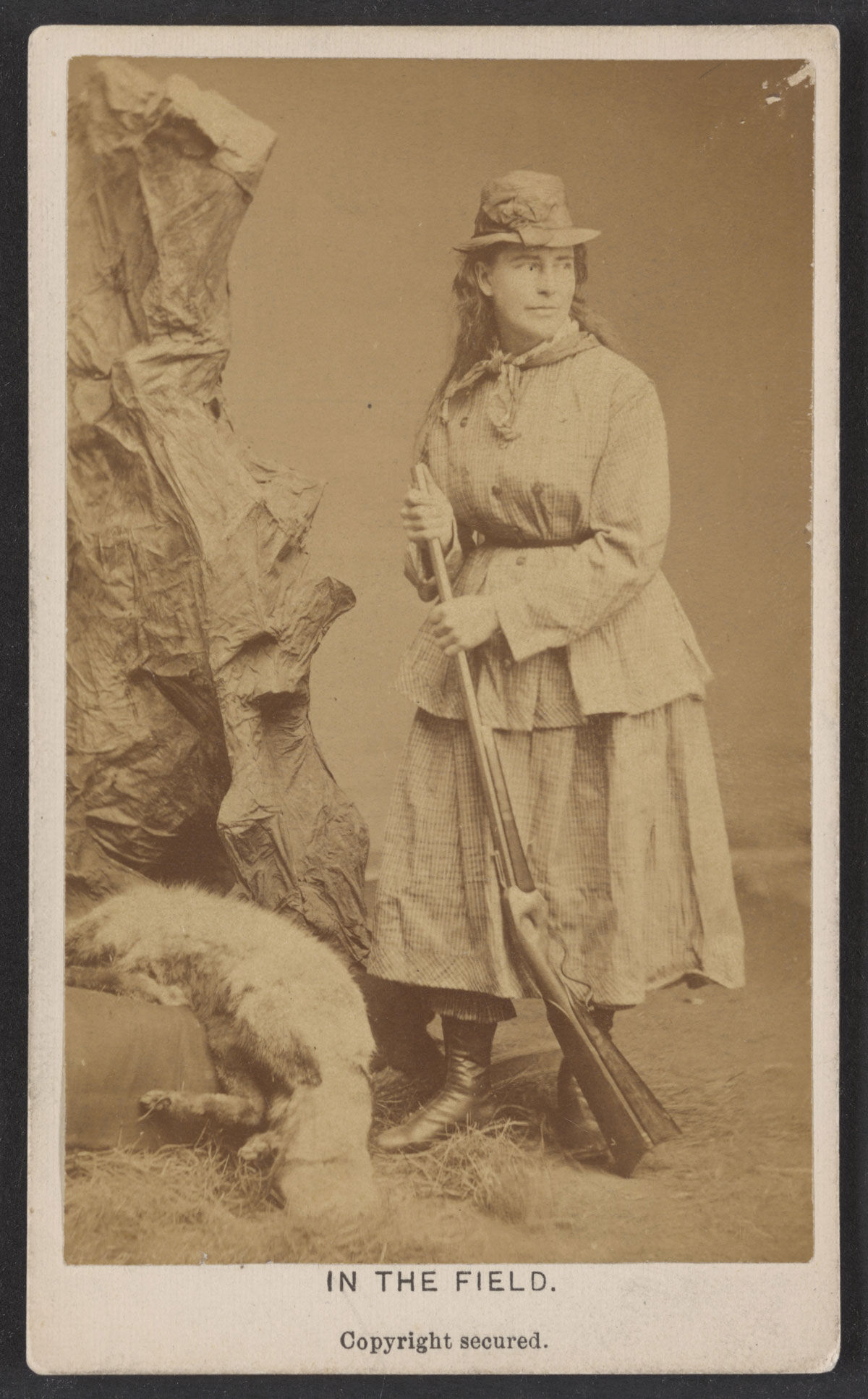 Images of Martha Maxwell in 1876. Via Wikimedia Commons.