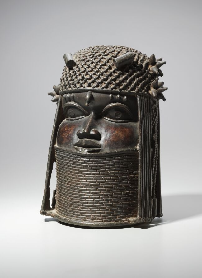 Head, Guinea Coast, Nigeria, Benin Kingdom, possibly mid 16th or early 17th century. Courtesy of The Cleveland Museum of Art.
