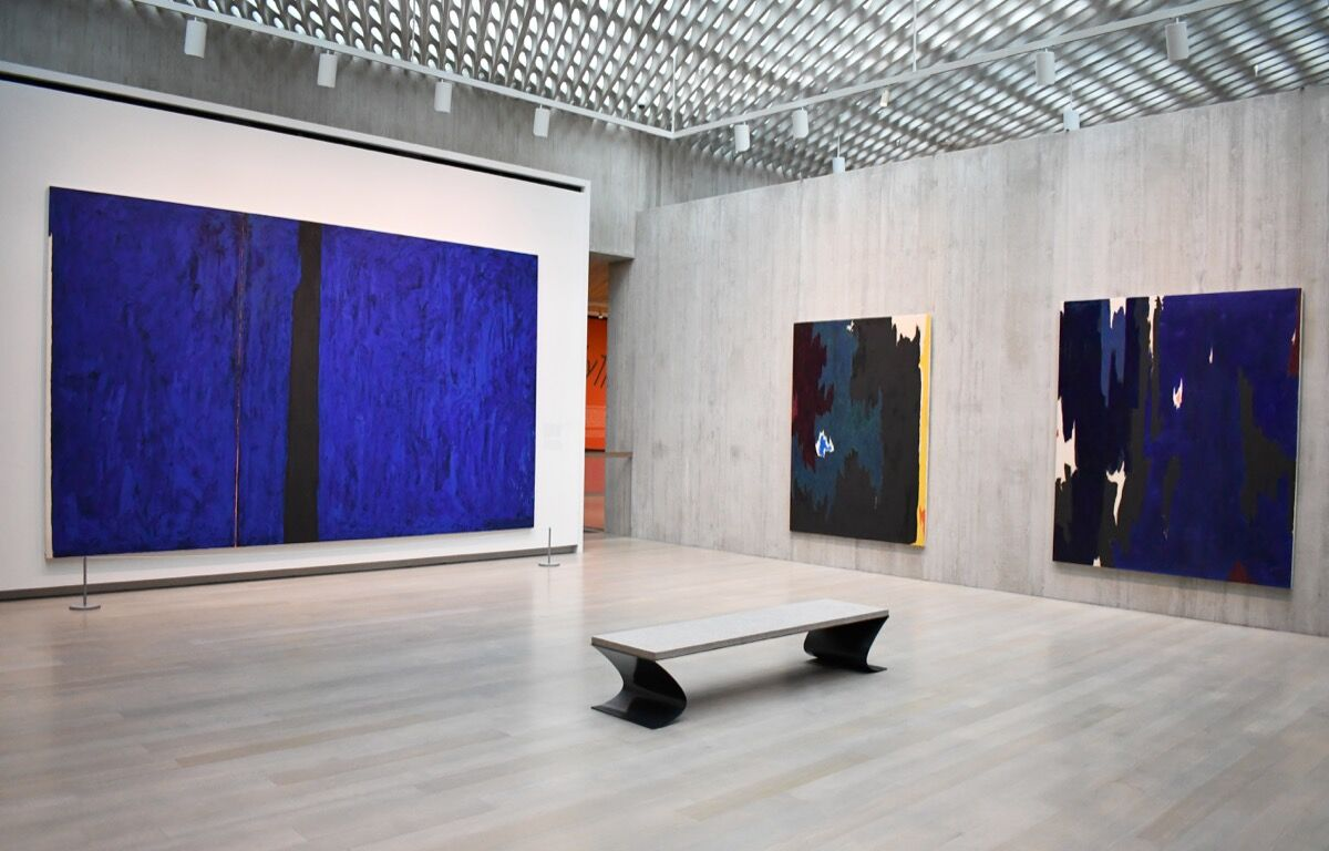 "Installation view of Clyfford Still, ""Elemental,"" at the Clyfford Still Museum, 2019. Courtesy of the Clyfford Still Museum."