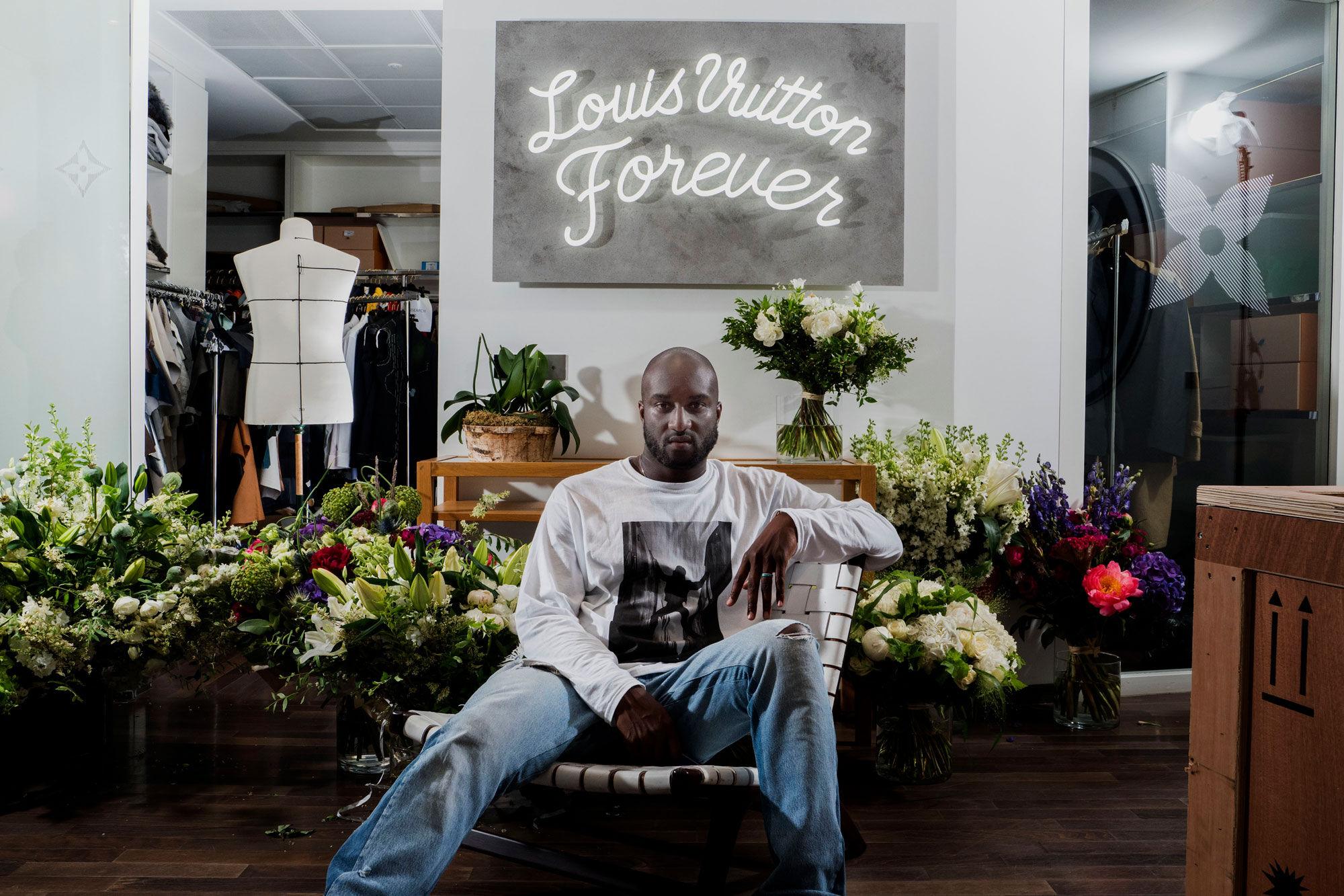 Portrait of Virgil Abloh at the Louis Vuitton headquarters © Alex Majoli/Magnum Photos. Courtesy of Magnum Photos.