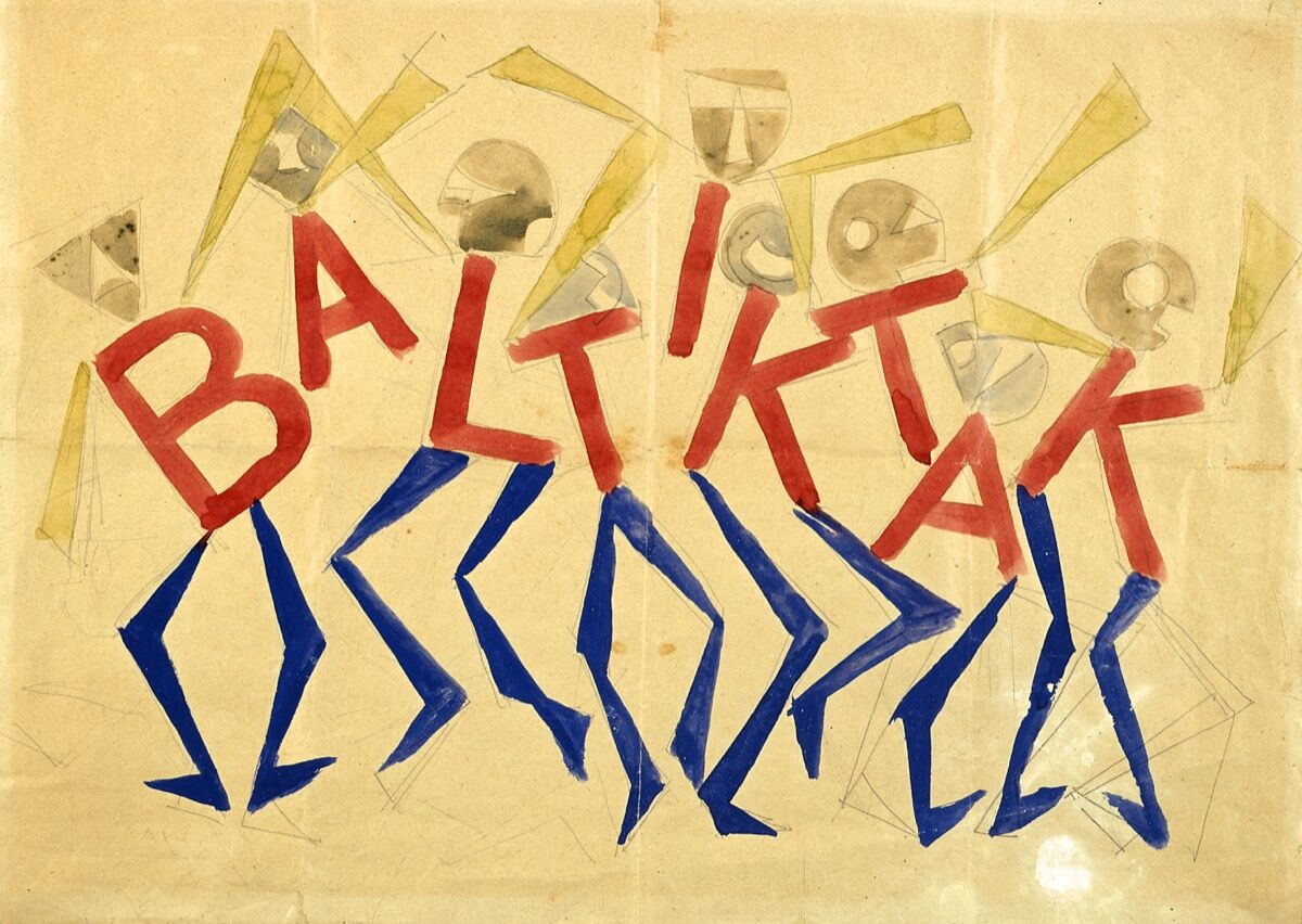 Giacomo Balla, Design for the sign and flashing light for the facade of the Bal Tic Tac, 1921. © DACS, 2019. Photo by Studio Fotografico Gonella 2014. Courtesy of the Fondazione Torino Musei.
