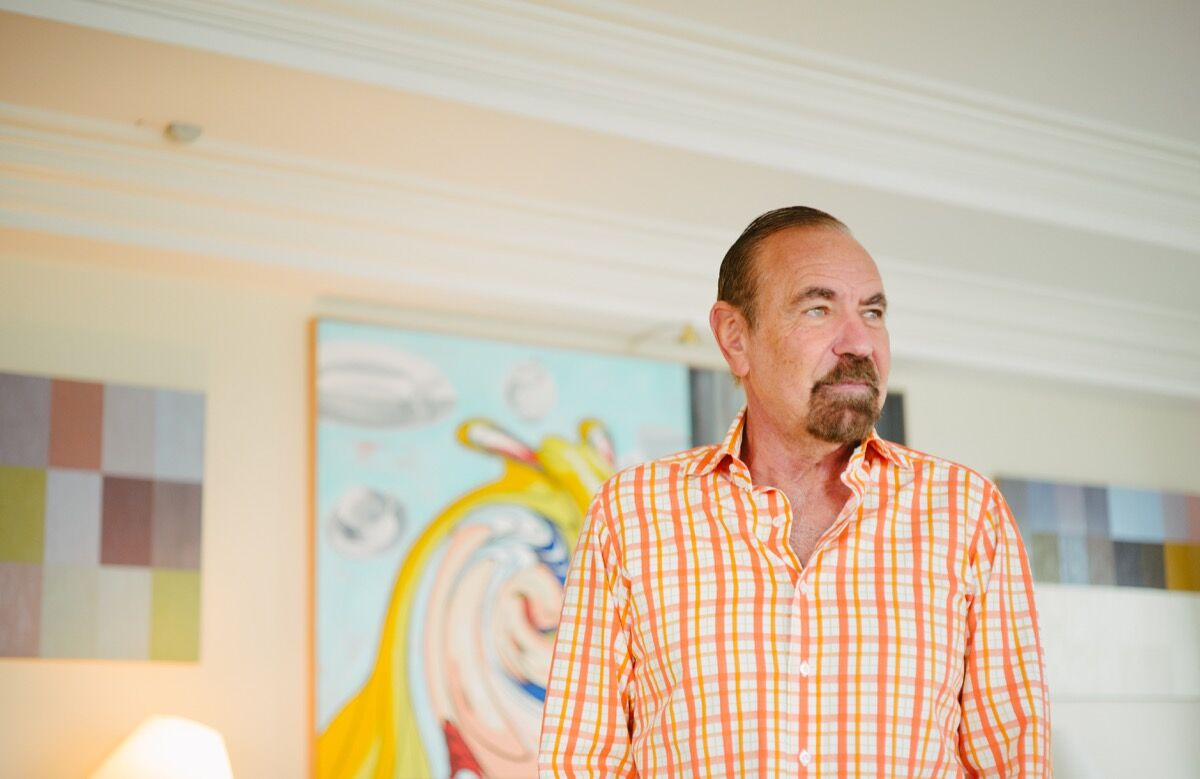 Portrait of Jorge M. Pérez by Gesi Schilling for Artsy.