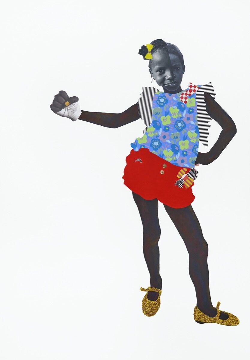 Deborah Roberts, Hip bone, 2019. © Deborah Roberts. Courtesy of the artist and Stephen Friedman Gallery, London.