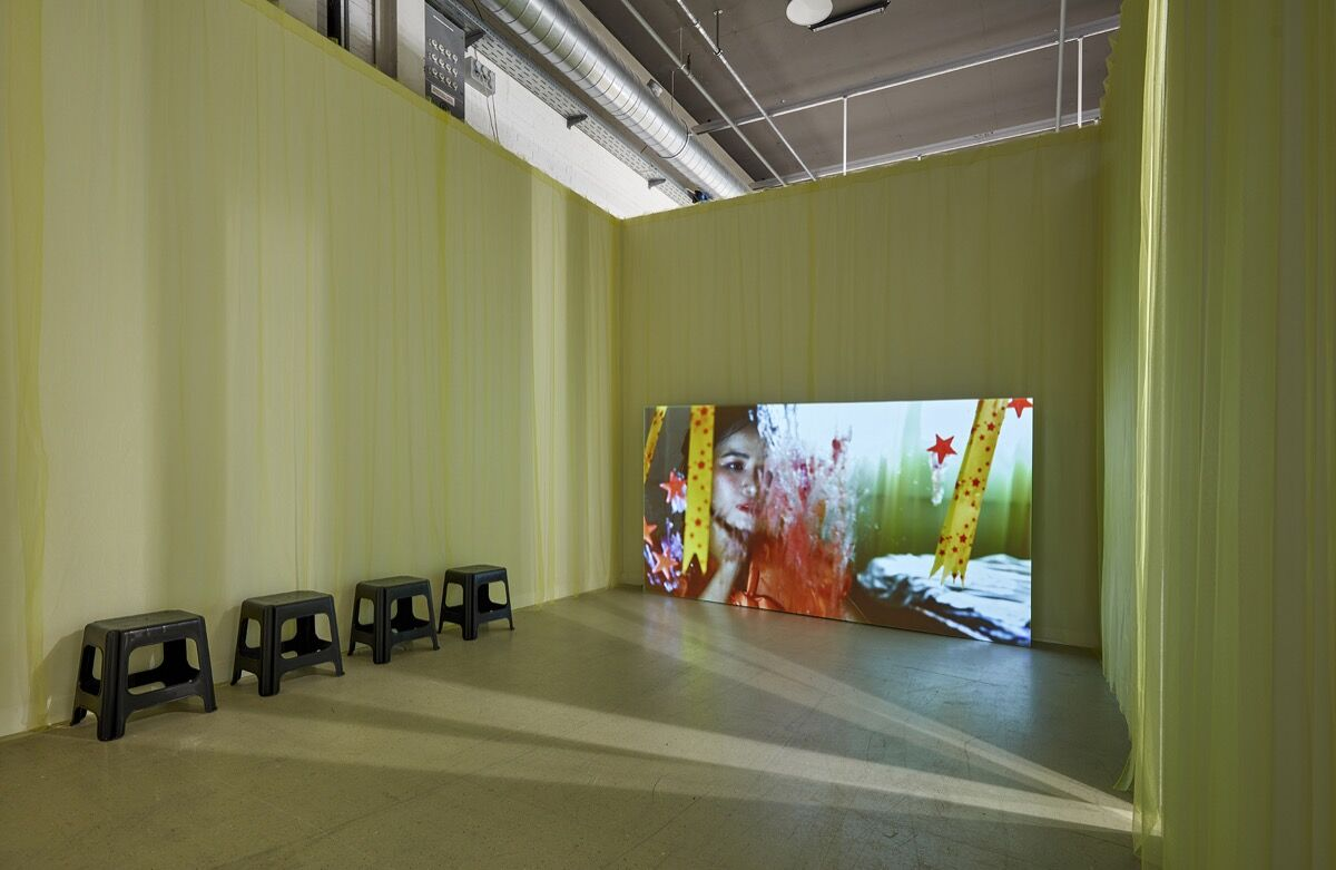 Diane Severin Nguyen, installation view in Bureau's booth at Art Basel, Basel, 2021. Courtesy of the artist and Bureau.