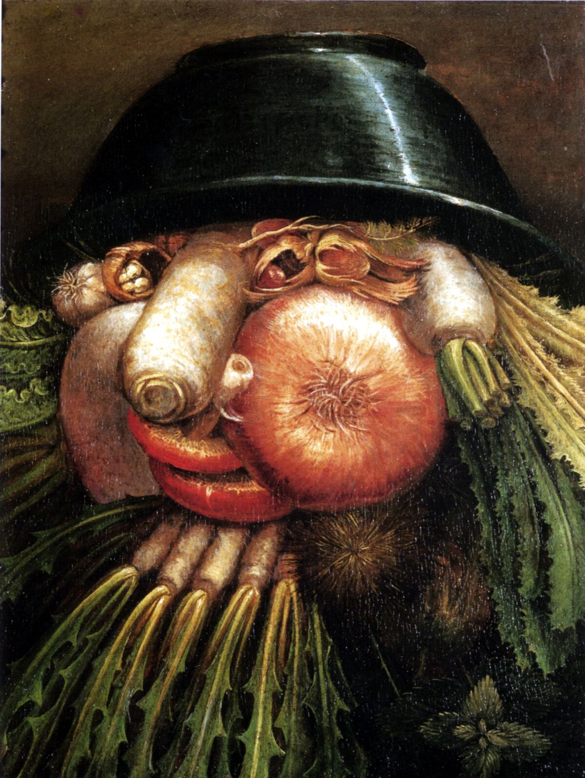 Giuseppe Arcimboldo, Portrait with Vegetables (The Greengrocer). Image via Wikimedia Commons.