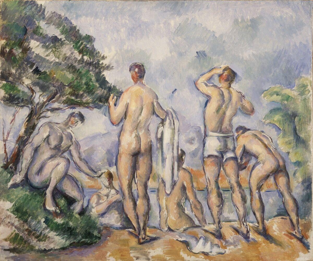 Paul Cézanne, Bathers, 1890-92. Saint Louis, Saint Louis Art Museum, donation by Etta E. Steinberg, 1955. Image courtesy Saint Louis Art Museum.