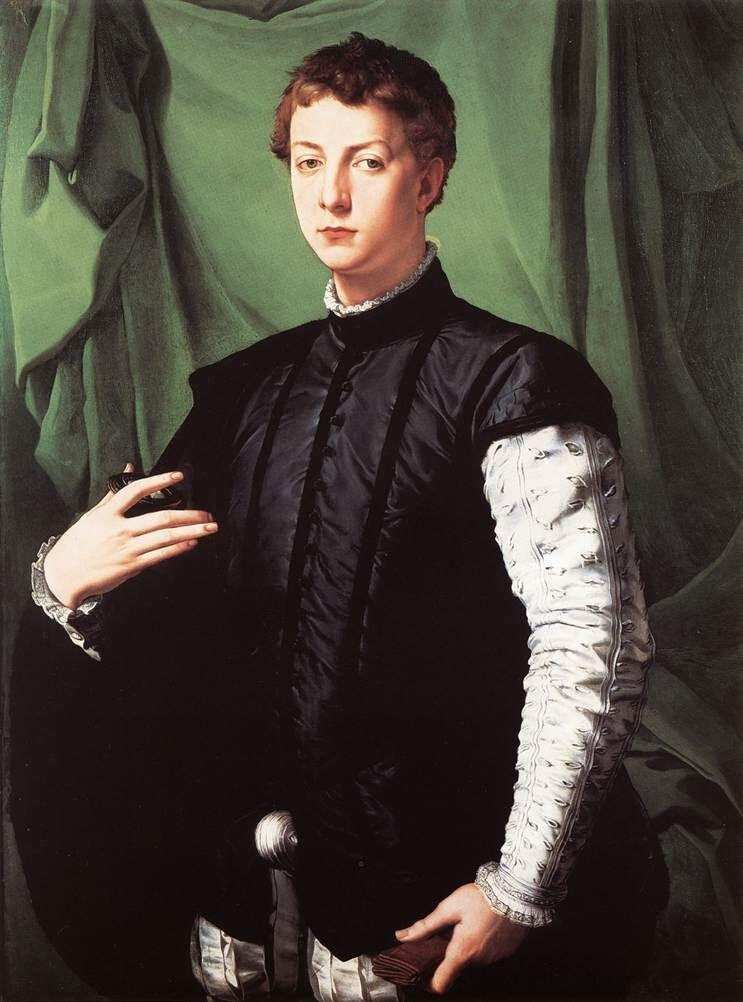 Agnola Bronzino, Retrato de Lodovico Capponi, 1550–55.  Imagen a través de Wikimedia Commons.