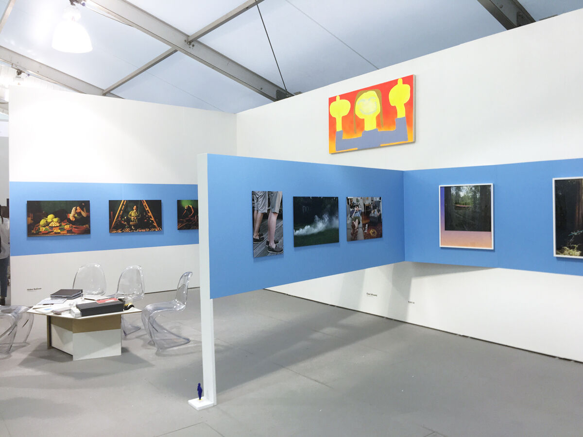 Installation view of Postmasters's booth at UNTITLED, Miami Beach, 2016. Photo courtesy of the gallery.
