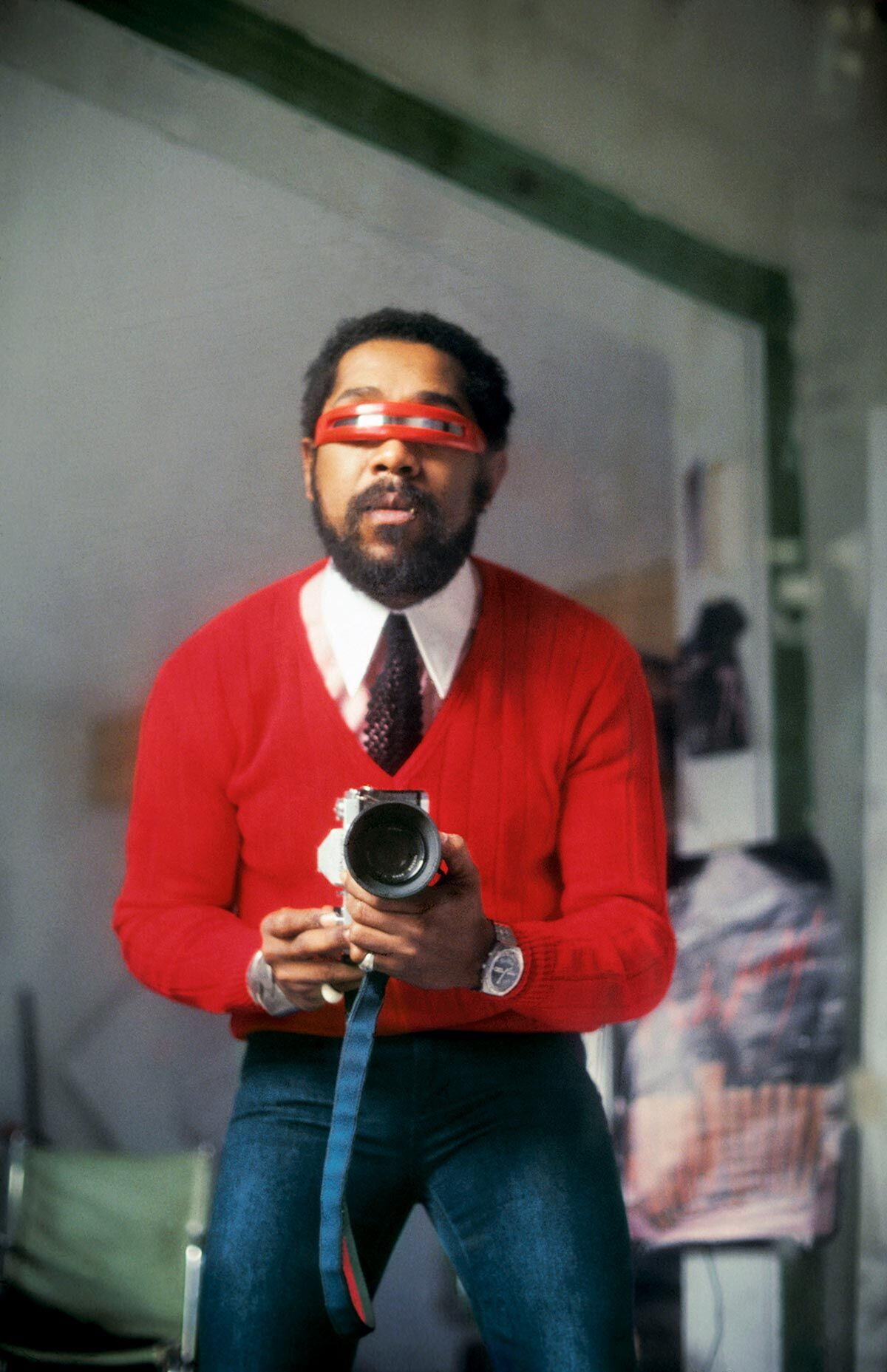 Barkley L. Hendricks, Self-Portrait with Red Sweater, 1980/2013. © Estate of Barkley L. Hendricks. Courtesy of the artist's estate and Jack Shainman Gallery, New York.