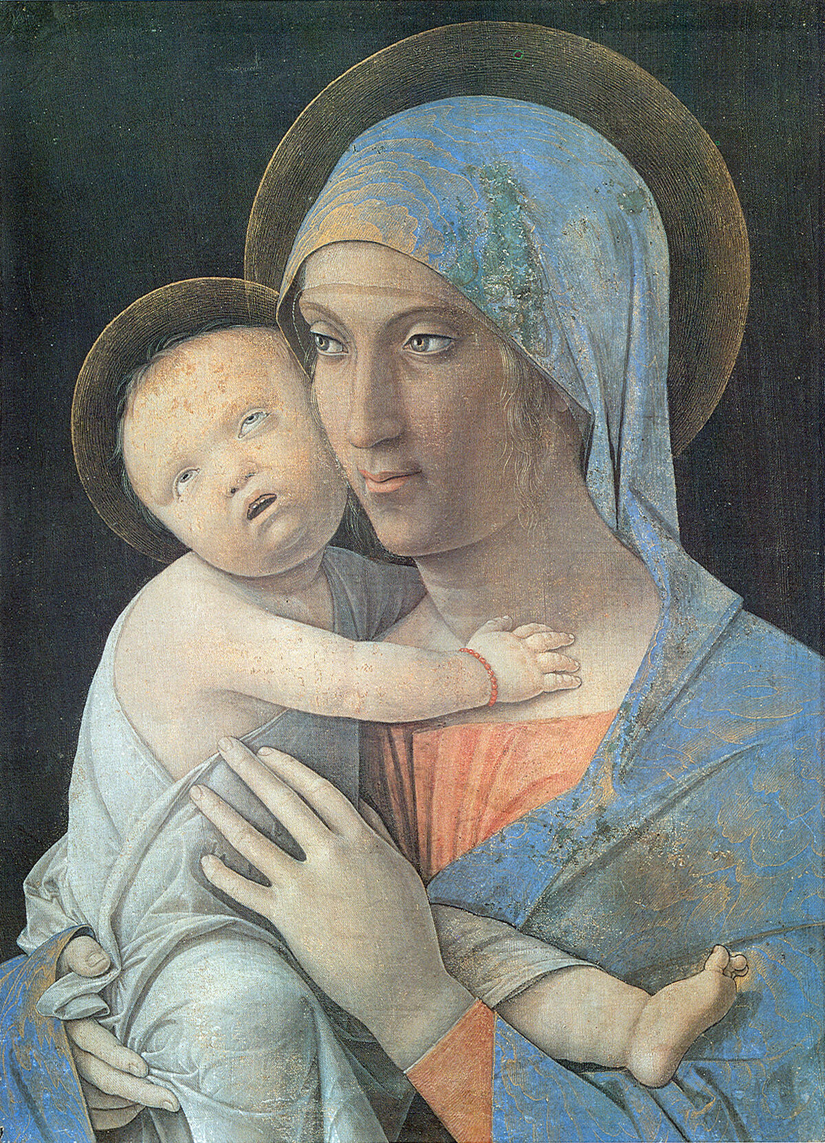Andrea Mantegna, Madonna and Child, 1490–1500 or 1463–65. Image via Wikimedia Common.