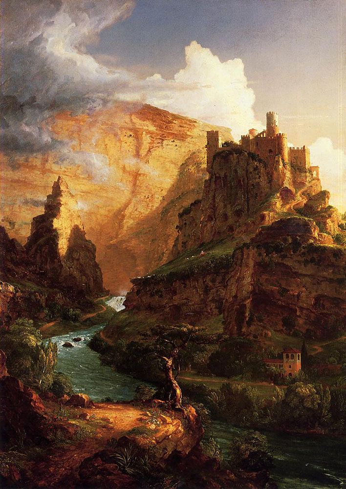 Thomas Cole, Valley of the Vaucluse. 1841. Photo via Wikimedia Commons.