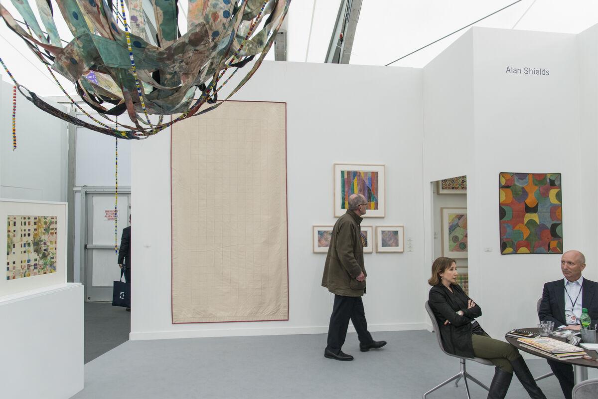 Installation view of Van Doren Waxter's booth at Frieze New York, 2016. Photo by Adam Reich for Artsy.