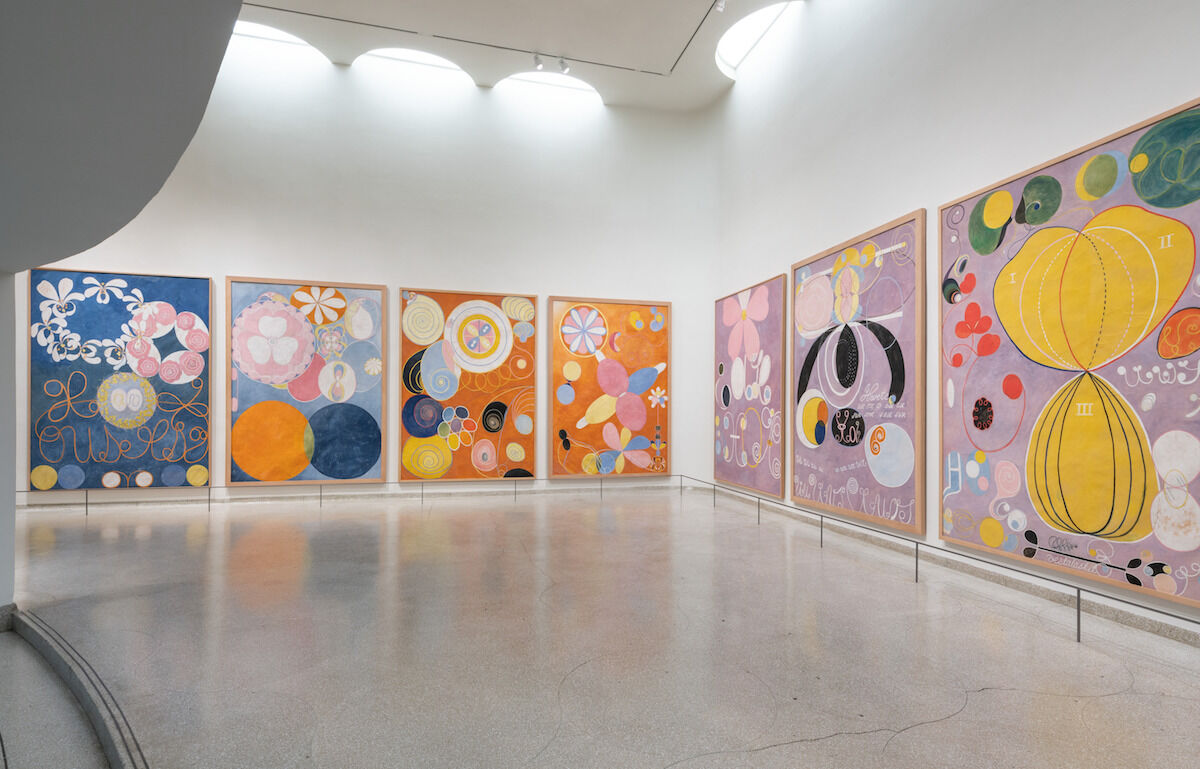"""Installation view, """"Hilma af Klint: Paintings for the Future,"""" Solomon R. Guggenheim Museum, New York, October 12, 2018–April 23, 2019. Photo by David Heald, © 2018 The Solomon R. Guggenheim Foundation."""