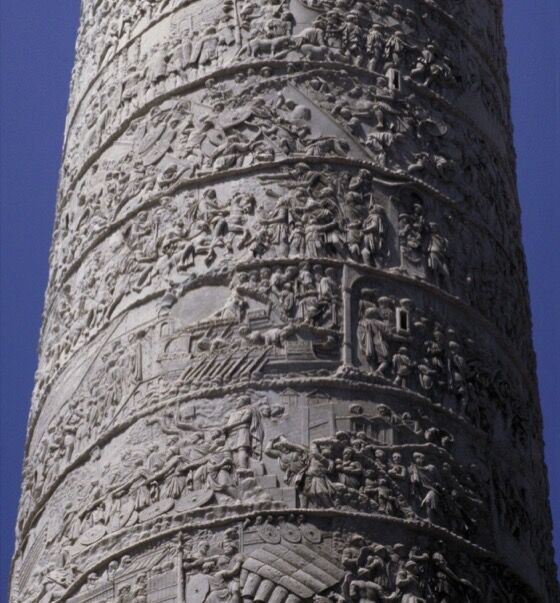 Apolodoro de Damasco, Columna de Trajano, 113 CE Foto de Allan T. Kohl / Art Images for College Teaching (AICT).