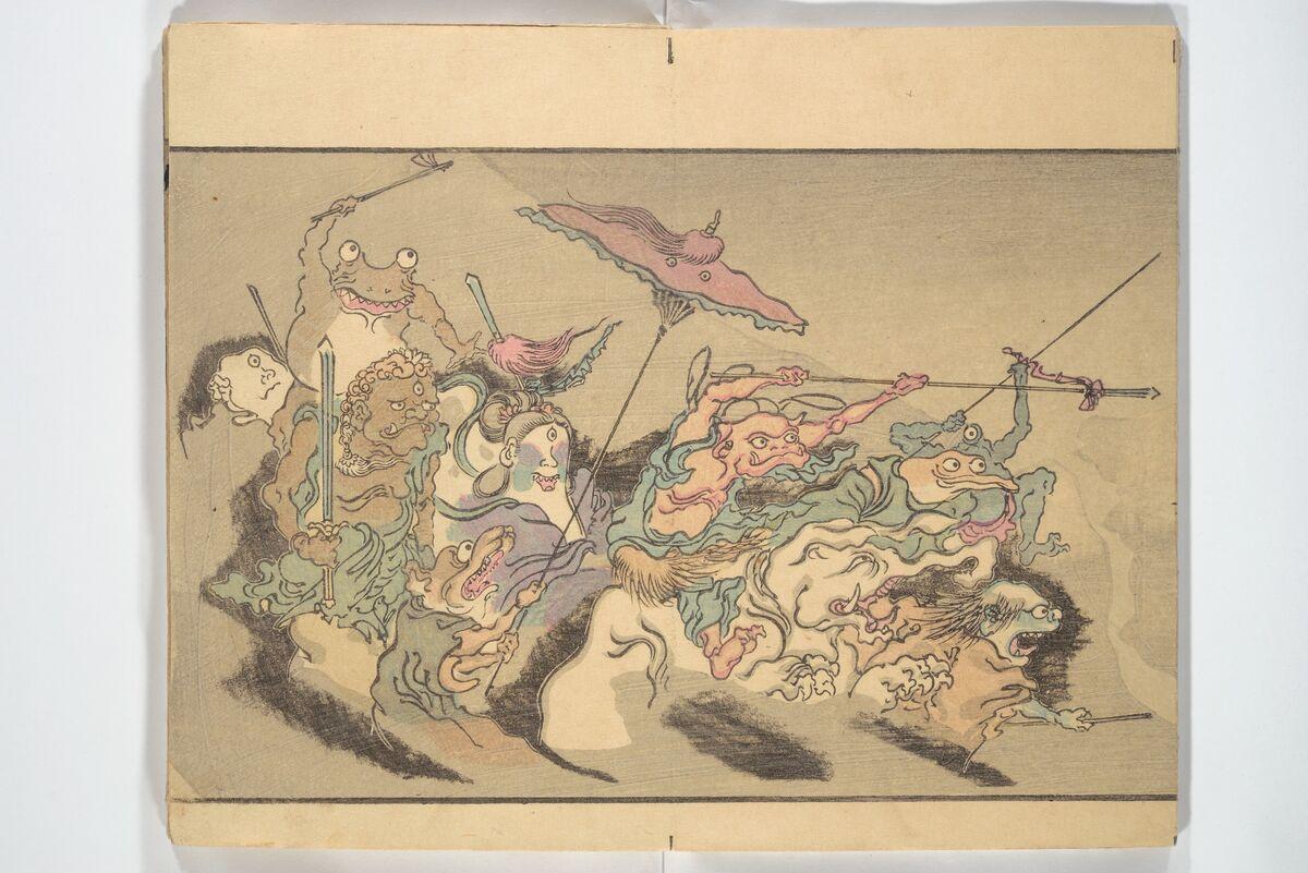 Kawanabe Kyōsai, Kyōsai's Pictures of One Hundred Demons (Kyōsai hyakki gadan), 1890. Courtesy of the Metropolitan Museum of Art.