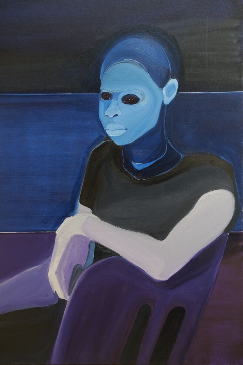 Richard Butler Bowdon, M So Patient in Prussian Blue, 2019. Courtesy of the artist and First Floor Gallery, Harare.