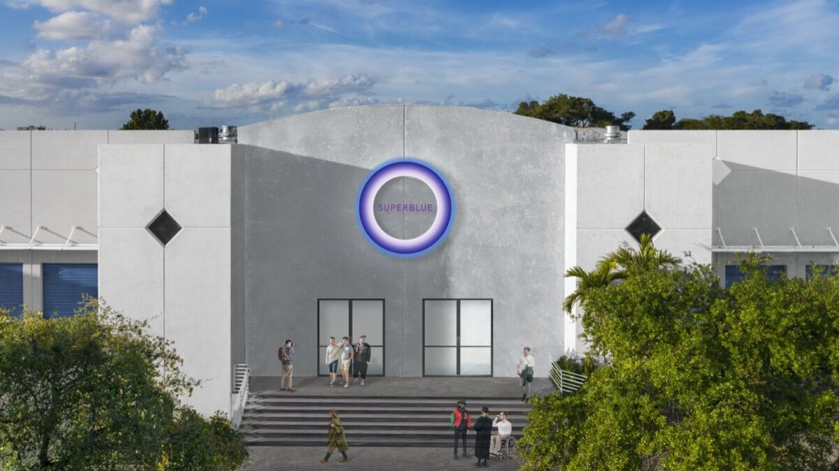 Façade rendering of Superblue Experiential Art Center in Miami. Photo by Moris Moreno. Courtesy of Superblue.