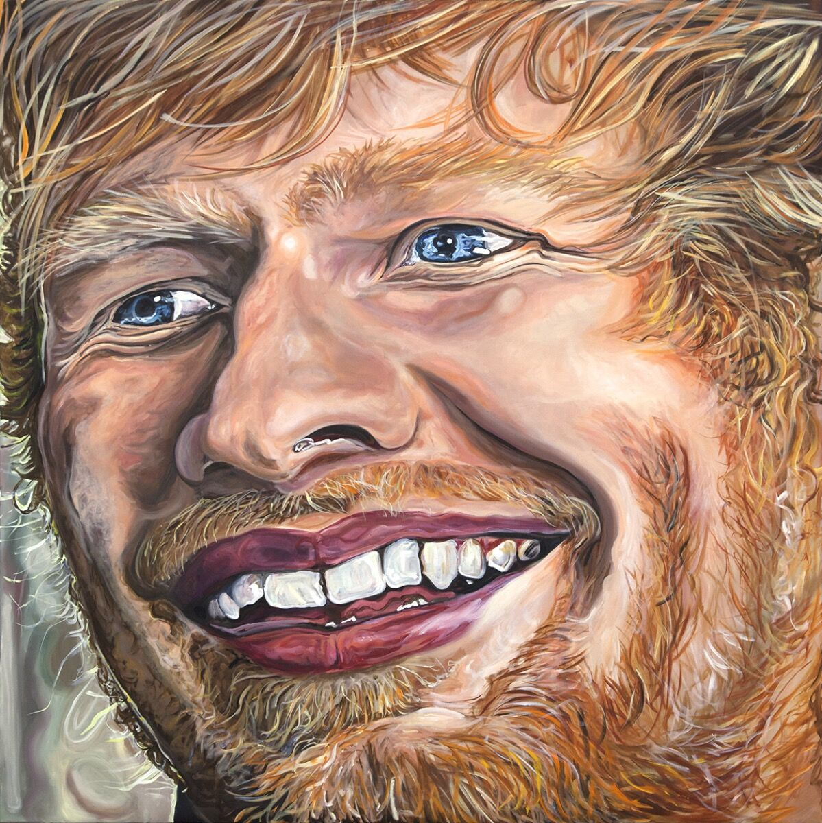I M Obsessed With This Ed Sheeran Painting By Jana Euler Artsy