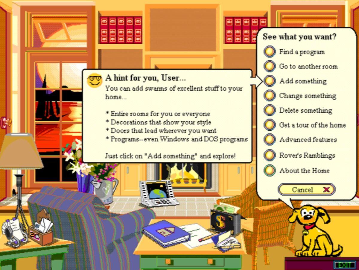 """Screenshot of """"Microsoft Bob"""" via toastytech.com."""