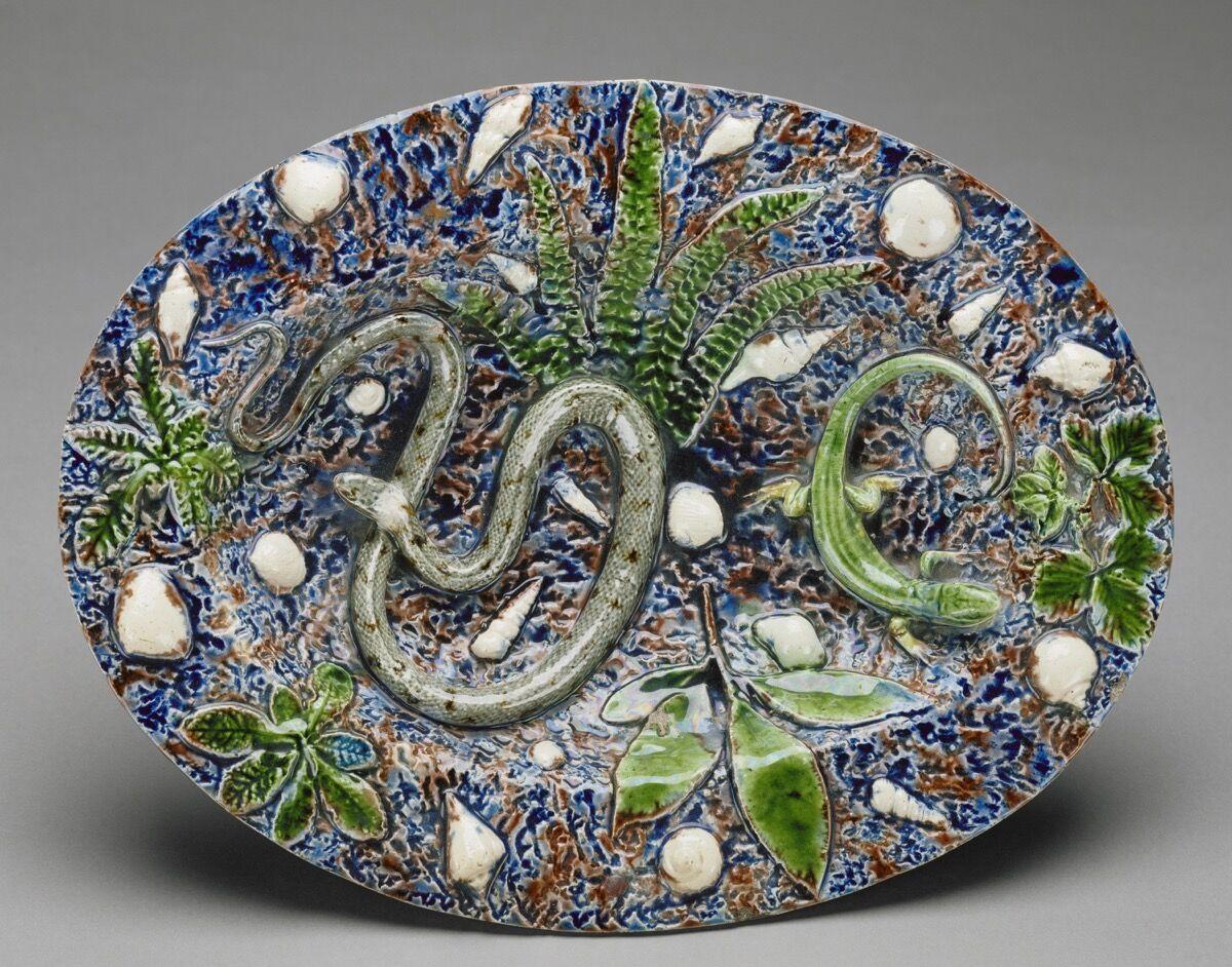 Bernard Palissy, Oval Plate, mid-16th century.