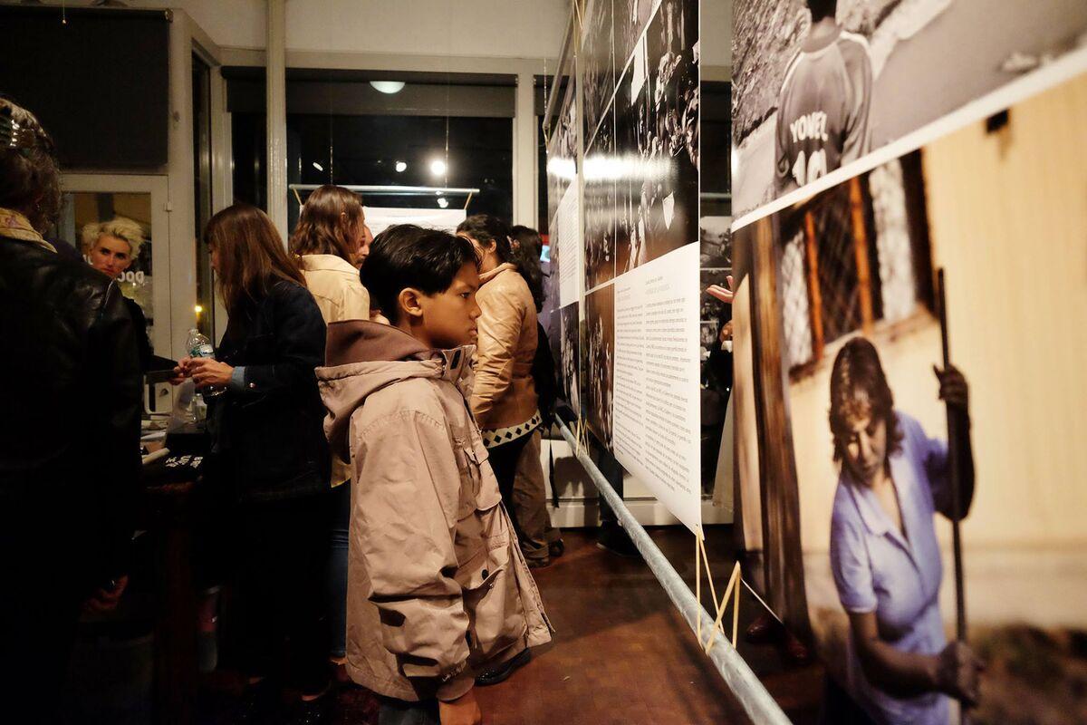 "Installation view of Kadir Van Lohuizen, ""Via Panam,""at the Bronx Documentary Center, 2015. Photo © Shayan Artuz/Bronx Documentary Center. Courtesy of the Bronx Documentary Center."