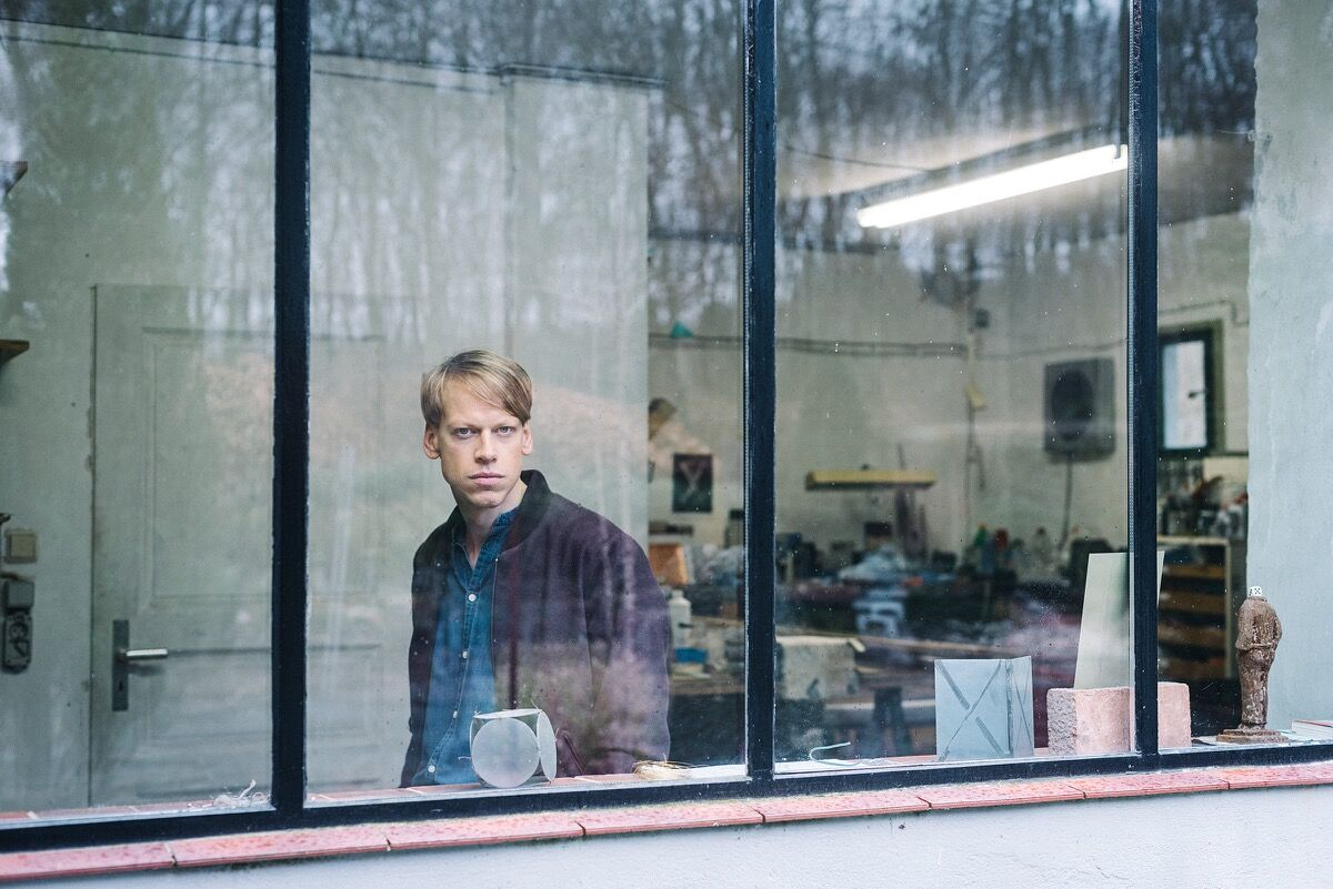 Portrait of Fiete Stolte in his Berlin studio by Wolfgang Stahr for Artsy.