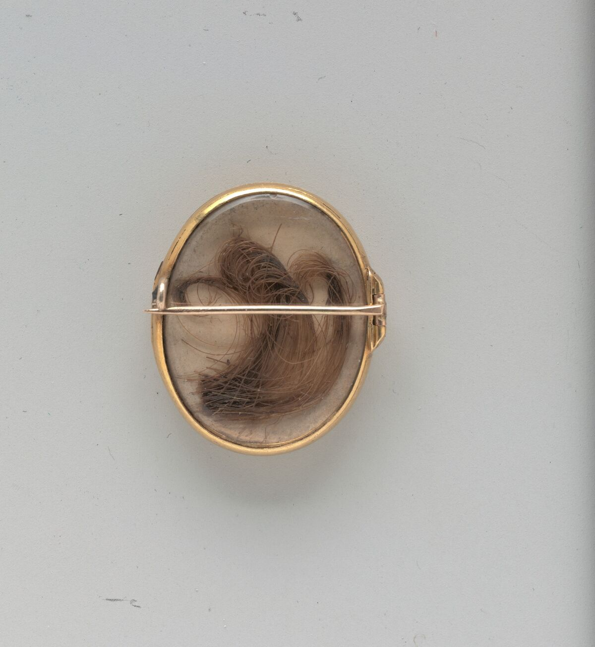 Lover's Eyes (back with lock of hair), ca. 1840. Courtesy of The Metropolitan Museum of Art.