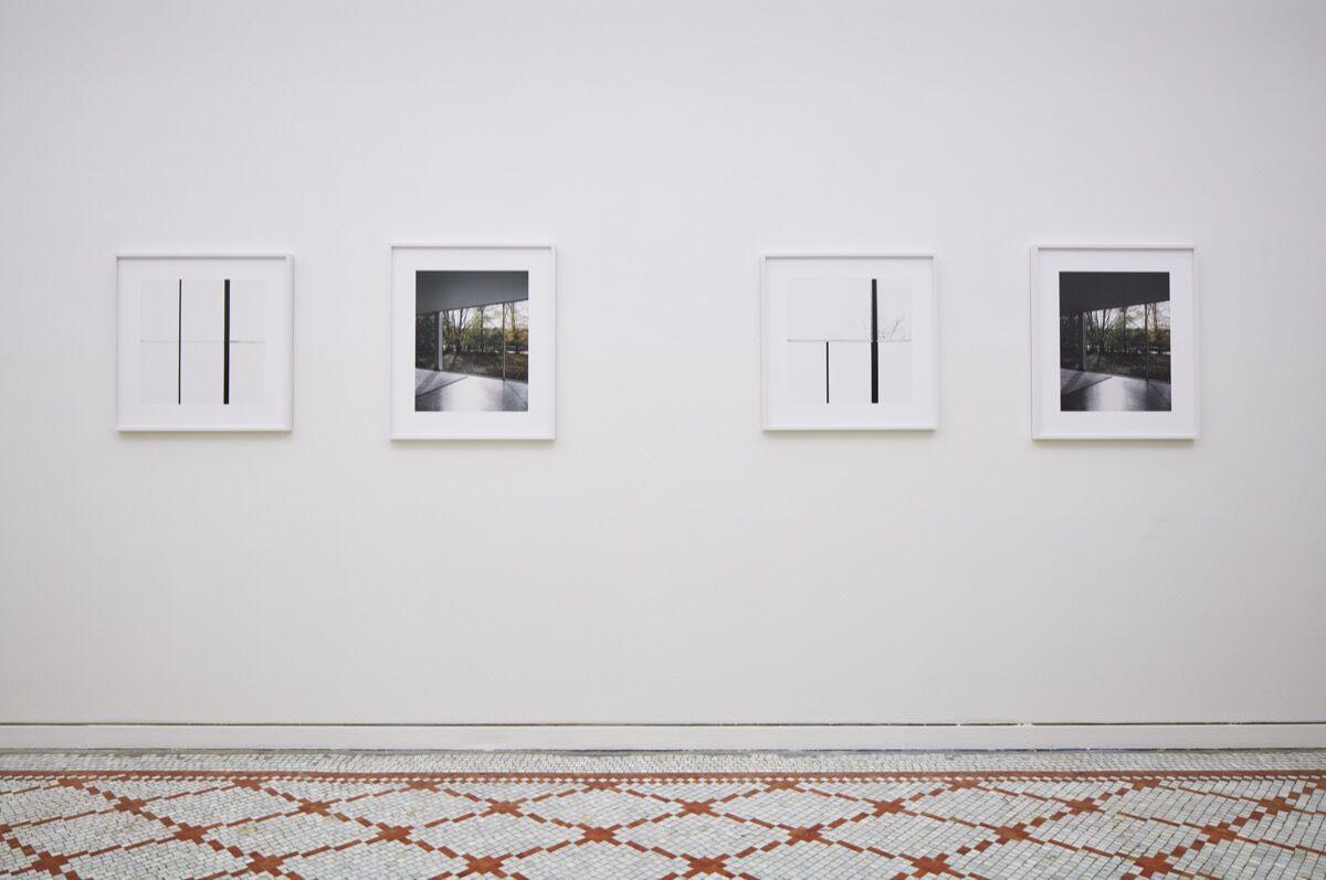 Installation view of Luisa Lambri. Courtesy of Chicago Architecture Biennial. Steve Hall © Hall Merrick Photographers.
