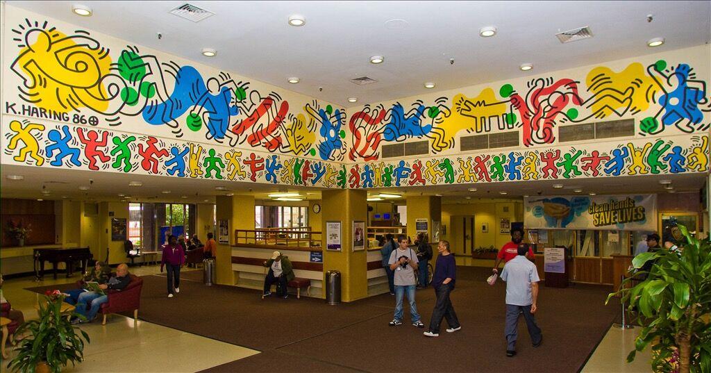 Keith Haring, Untitled, 1986 at NYC Health + Hospitals Woodhull location. Courtesy of NYC Health + Hospitals.