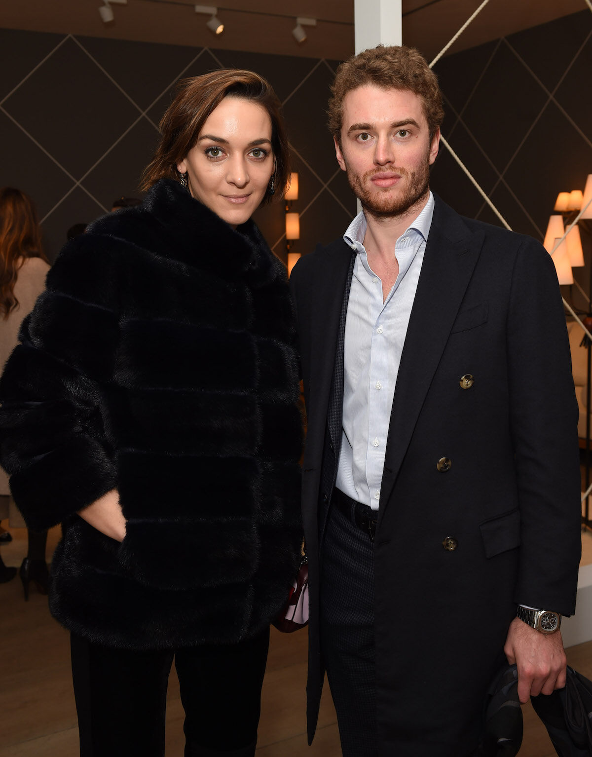 Inigo Philbrick (right) attends an opening at Galerie Patrick Seguin in London on February 25, 2016. Photo by Stuart C. Wilson/Getty Images for Galerie Patrick Sequin.