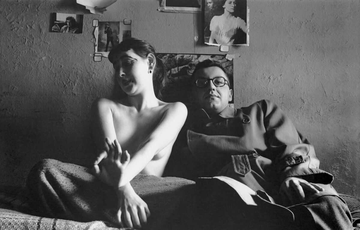 "Saul Leiter, Self Portrait with Inez, c. 1947, from ""In My Room."" Courtesy of Steidl."
