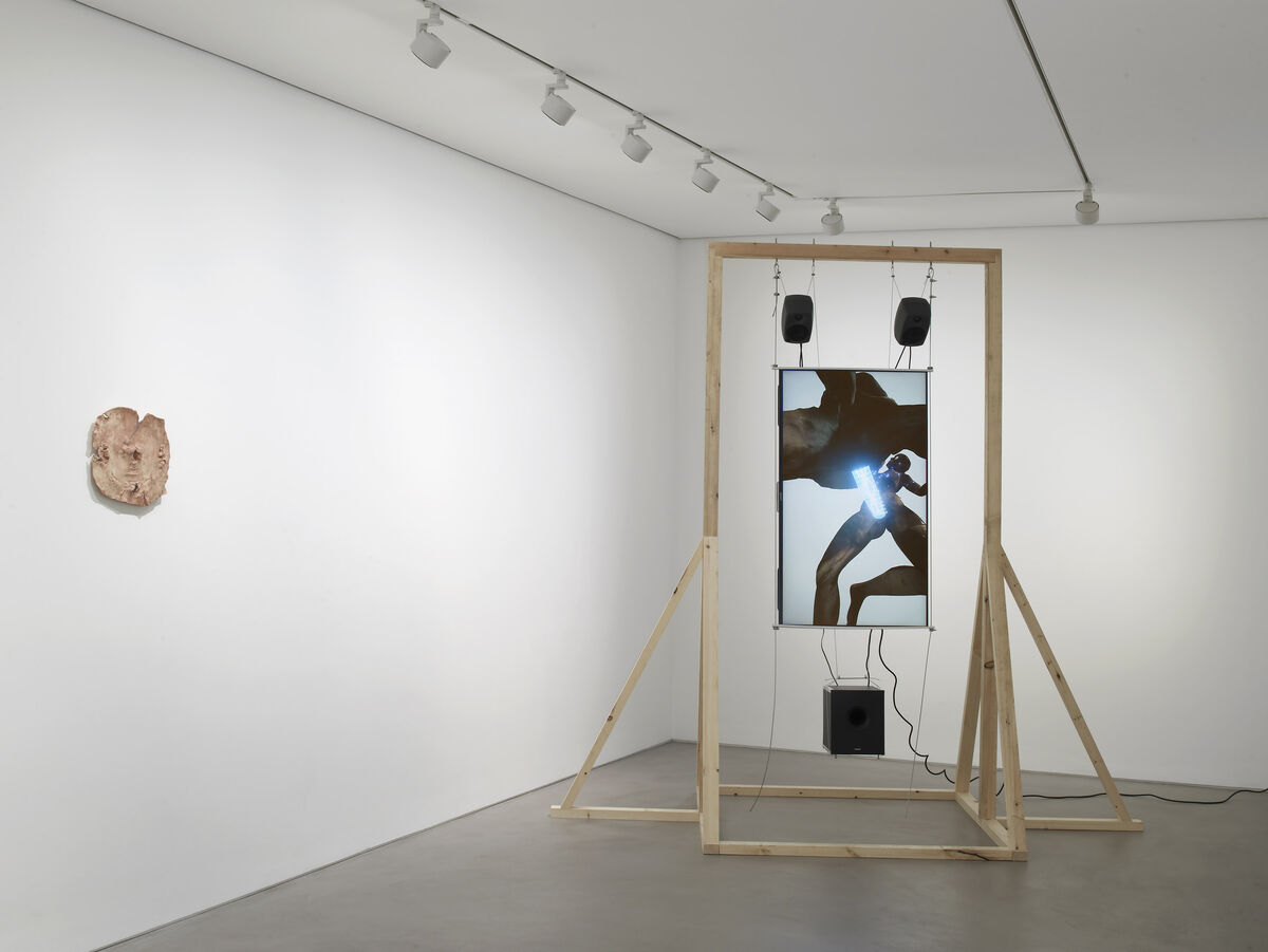 "Installation view of ""Sidsel Meineche Hansen: Second Sex War"" at Gasworks, London. Photo by Andy Keate, courtesy of the artist and Gasworks."