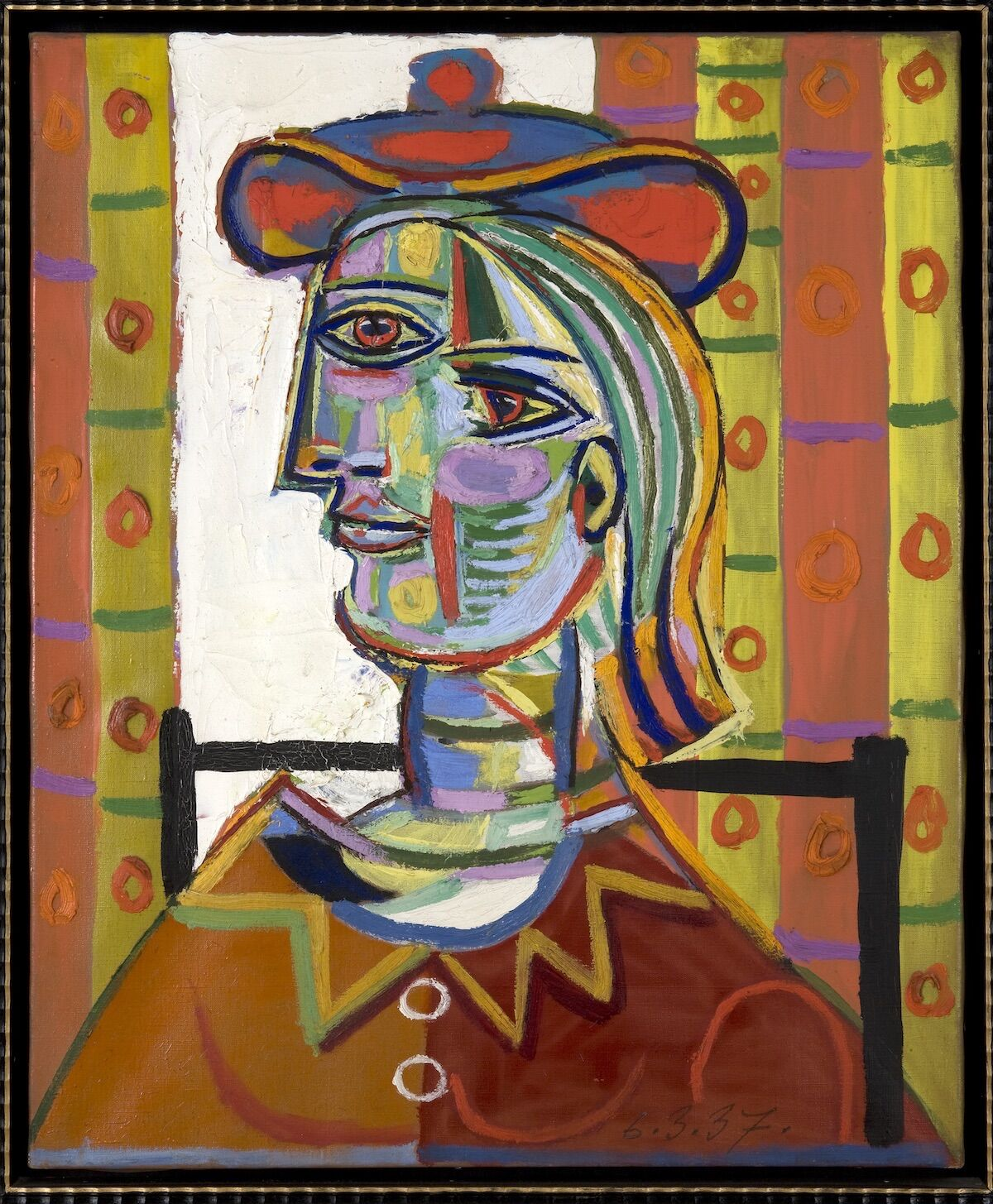 Pablo Picasso, Femme au beret et la collerette (Woman with Beret and Collar), 1937. © Estate of Pablo Picasso / Artists Rights Society (ARS), New York. Courtesy the Donald B. Marron Family Collection, Acquavella Galleries, Gagosian, and Pace Gallery.