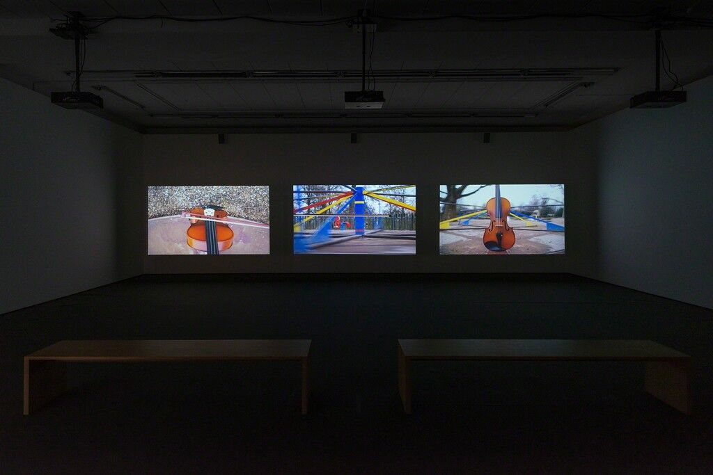 """Installation view of Nevin Aladag, """"Traces,"""" at Wentrup Gallery, Berlin."""