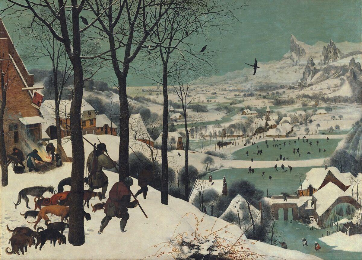 Pieter Bruegel the Elder, The Hunters in the Snow , 1565. Courtesy of Kunsthistorisches Museum.