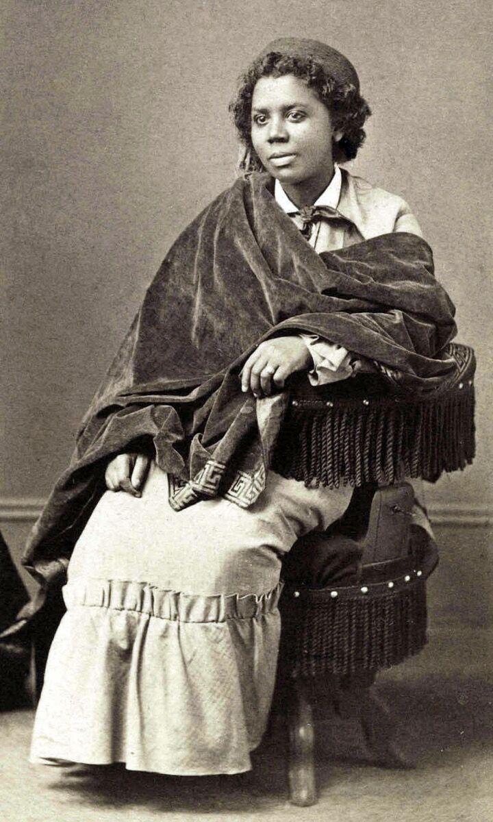 Portrait of Edmonia Lewis, c. 1870. Photo via Wikimedia Commons.