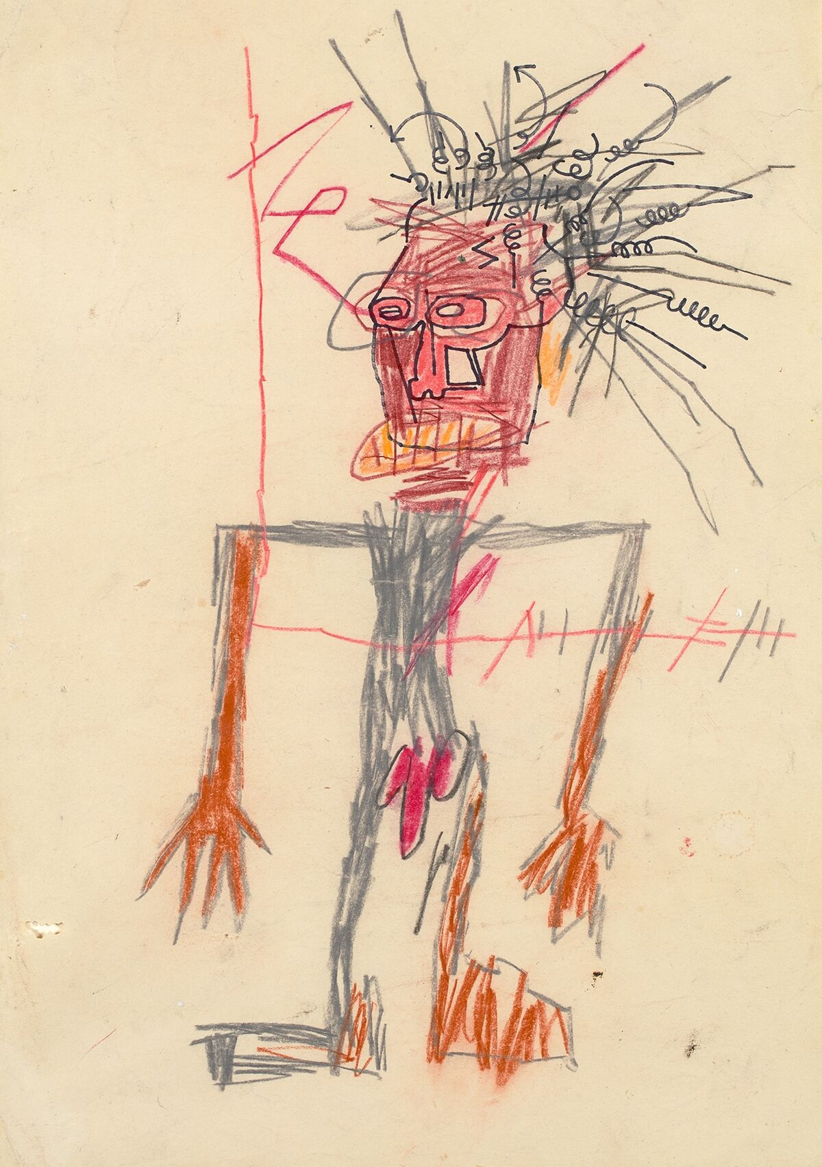 Jean-Michel Basquiat, Untitled (Standing Male Figure), 1982. Courtesy of Phillips.