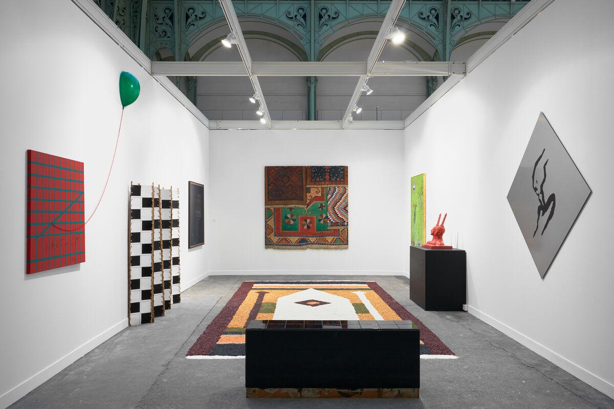 Installation view of GalerieIsabella Bortolozzi's booth at FIAC, 2015. Photo courtesy of GalerieIsabella Bortolozzi.