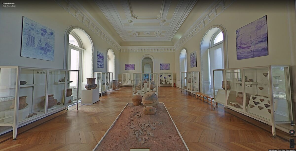 The virtual tour of the National Museum of Brazil on Google. Courtesy Google.